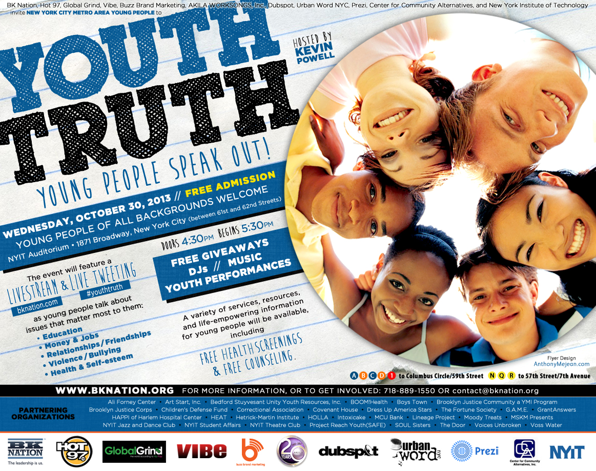 YOUTH TRUTH: Young People Speak Out! : New York Trend Online