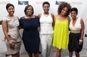 "ASPiRE's ""exhale"" co-hosts Angela Burt-Murray, Erin Jackson, Issa Rae, Rene Syler and Malinda Williams. Credit: Courtesy of ASPiRE."