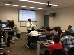 Workshop Instructor Charlene Thompson of Baldwin Based Thompson Economic Development Service