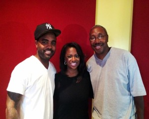 Pictured: Todd Tucker, Kandi Burruss and Promoter Travis Steele