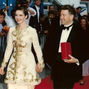 "Pictured here are Isabella Rossellini and David Lynch at the 1990 ""Wild at Heart""  screening at Cannes Film Festival."