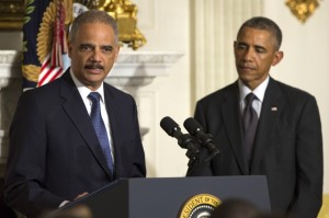 President Obama and Attorney General Holder. Via the Washington Post.