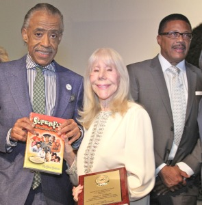 (l-r) Rev. Al Sharpton; founder of National Action Network/Host of MSNBC's Politics Nation, Author Gloria Goldwater and Judge Greg Mathis. Photo Credit: Hosea D. Boyd Sr. Photography