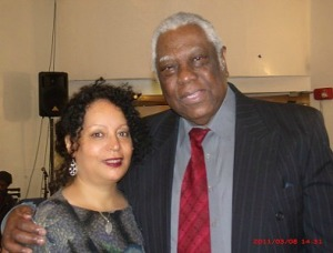 Deardra and producer-director Woodie King