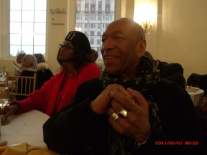 NY Beacon Entertainment Editor, Don Thomas with socialite Shirley Scott