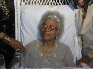 Gertrude Jeannette at the Alhambra Ballroom celebrating 100