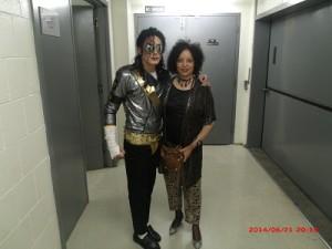 MJ Impersonator Jeffrey Perez and Deardra Shuler
