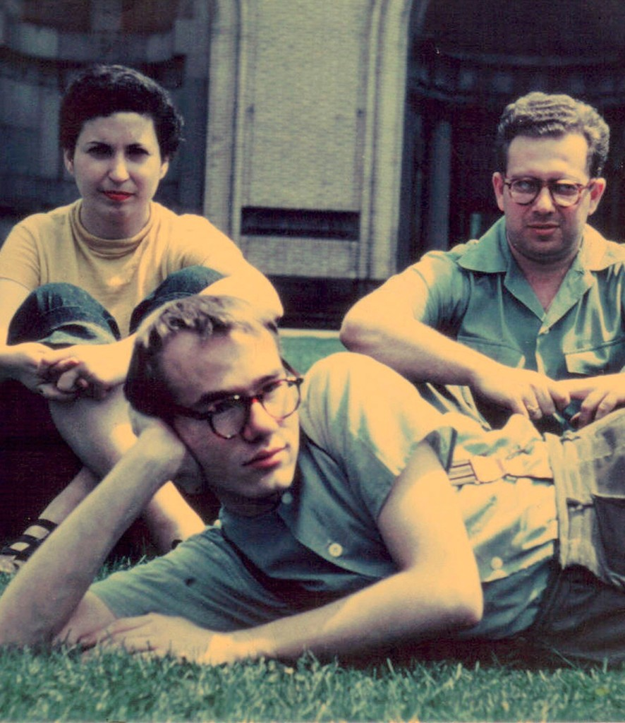 Warhol with fellow students Pearlstein and Cantor