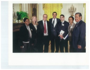 Yvonne Rubie, second from right, meets President Obama at historic 2009 White House Forum on Health Reform