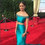 Rocsi Diaz In One-Of-A-Kind Dress at the 2015 Emmys