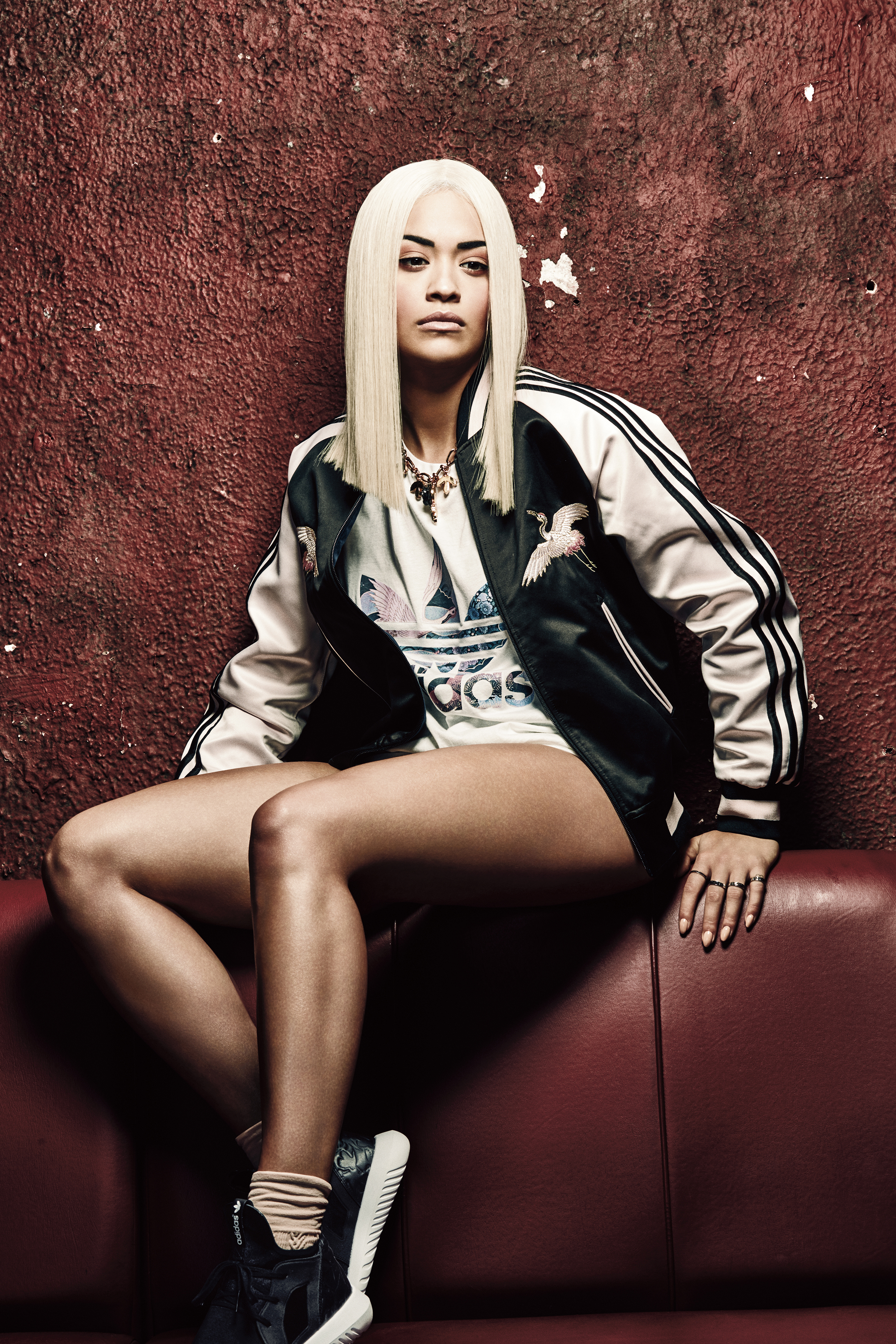 adidas originals releases new collection by rita ora new york trend online. Black Bedroom Furniture Sets. Home Design Ideas