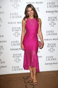 Elizabeth Hurley attends Harper's Bazaar Women Of The Year Awards at Claridge's Hotel on October 31, 2016 in London, England.
