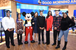 """Teens Surprised Live on """"GMA'' with Mentoring Trip to Disney Dreamers Academy"""