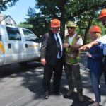 Legislators Kevan Abrahams and Debra Mulé Tour Resurfaced Brookside and Seaman Avenues in Freeport