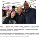 Legislator Kevan M. Abrahams Celebrates National Night Out at Uniondale Fire District