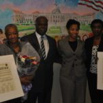 Minority Leader Kevan Abrahams Celebrates LL Dent Founders Lillian and Leisa Dent at Nassau County Legislature