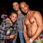 NBA Champion Stephen Curry& Brother, Seth Curry, Spotted at Drai's Nightclub in Vegas