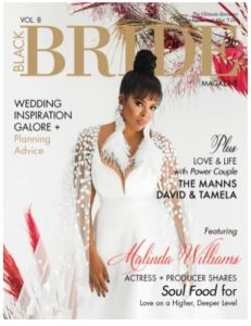 Actress Malinda Williams & Husband Featured in Black Bride Magazine