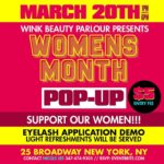 Wink Beauty Parlour Announces Special Pop-Up Shop Honoring Women's History Month March 20th, 2020 In NYC