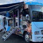 The Wyandanch Public Library Unveiled SLED - a Mobile Library Bus Service